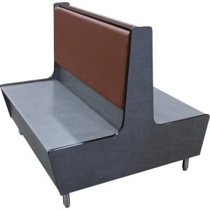 Morningside Double Laminate Restaurant Booth with Vinyl Back