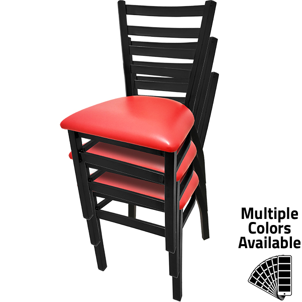 ST2160 Ladderback Stackable Metal Frame Chair stacked 1
